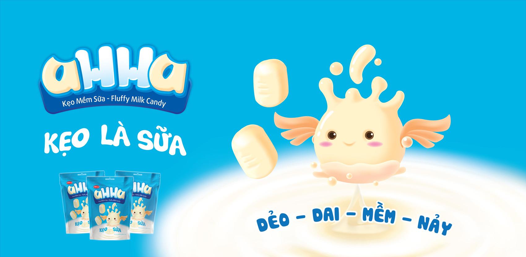 Banner kẹo sữa AHHA