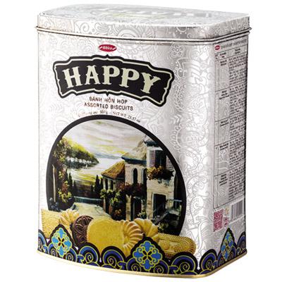 Bánh hỗn hợp hộp thiếc Happy Phố cổ 600 gam