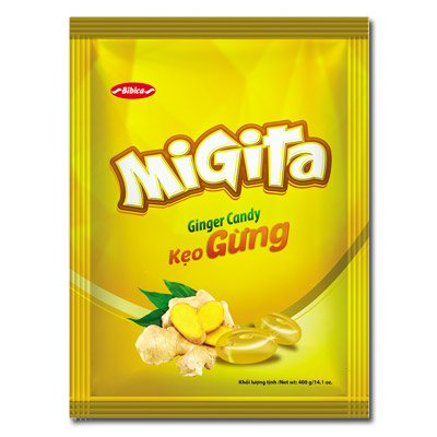 Kẹo Migita Gừng túi 400 gam