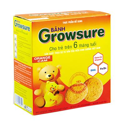 Bánh Growsure hương Cam 168 gam