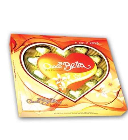 Hộp nhựa Trái tim Chocobella 135 gam