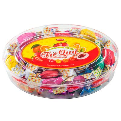 Kẹo cứng Tứ Quý hộp nhựa Oval 160 gam