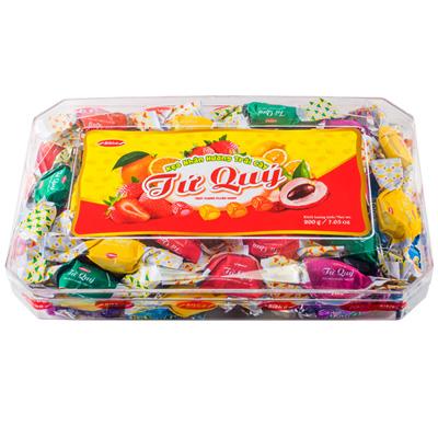 Kẹo cứng Tứ Quý hộp nhựa Chữ Nhật 200 gam
