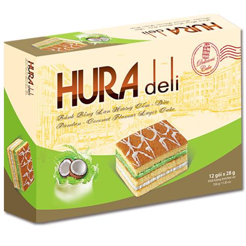Bánh Hura Deli hương Cốm - Dừa 336 gam