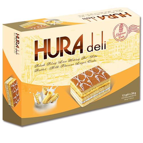 Bánh Hura Deli hương Bơ - Sữa 336 gam