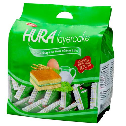 Bánh bông lan hương Cốm Hura Layer Cake (Quai xách) 390 gam
