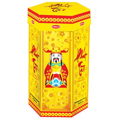Kẹo cứng Phát Tài hộp giấy Nền vàng 120 gam