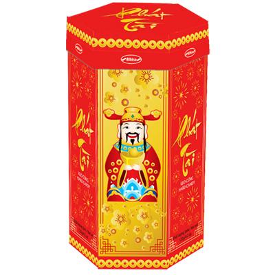 Kẹo cứng Phát Tài hộp giấy Nền đỏ 120 gam