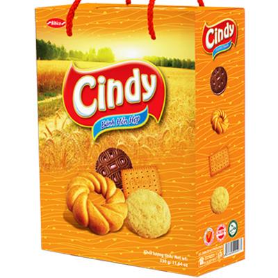 Bánh hỗn hợp Hộp giấy Quai xách Cindy Lúa Vàng 330 gam