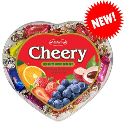 Kẹo mềm Cheery hộp nhựa Trái Tim 150 gam