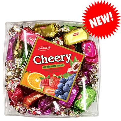 Kẹo Cheery hộp nhựa Vuông Chéo 150 gam