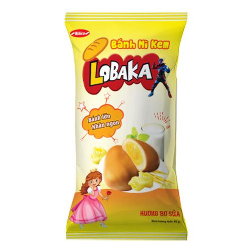 Bánh mì kem hương Bơ Sữa LOPAKA 45 gam