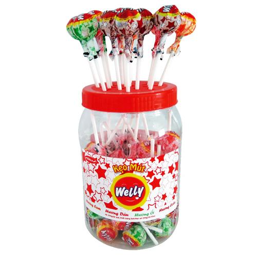 Kẹo Mút Welly hương hỗn hợp  594 gam