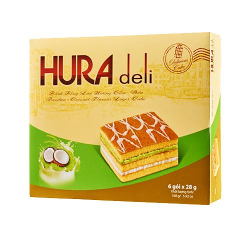 Bánh Hura Deli hương Cốm - Dừa 168 gam