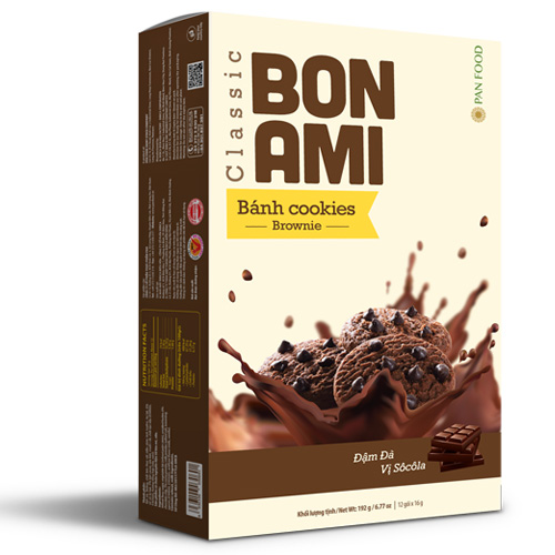 Bánh Cookies Brownie Bon Ami Classic 192 gam
