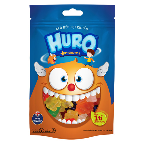 Kẹo dẽo lợi khuẩn HURO túi 105 gam