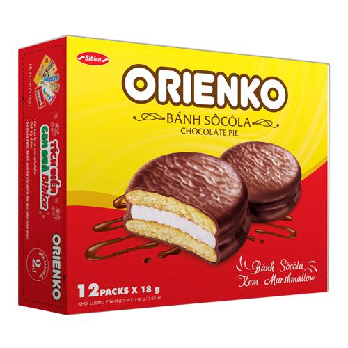 Bánh Sôcôla Orienko 216 gam