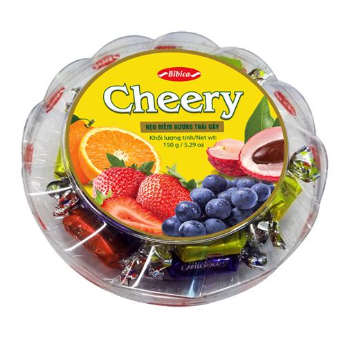 Kẹo mềm Cheery hộp nhựa Đế Tầng 150 gam