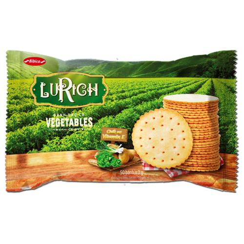 Bánh Crackers Rau Củ Lurich khay 150 gam