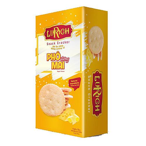 Lurich Snack Cracker Phô Mai Rắc Đường72 gam