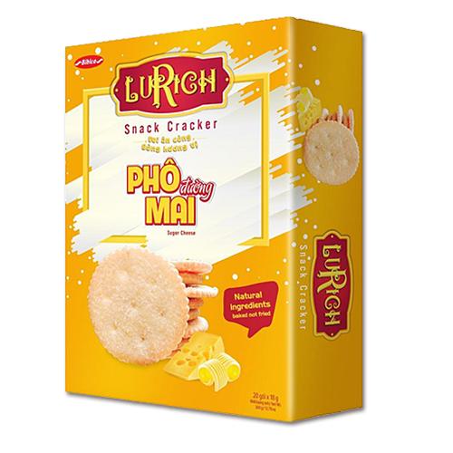Lurich Snack Cracker Phô Mai Rắc Đường 360 gam